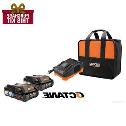 18-Volt OCTANE Bluetooth 3.0 Ah Batteries  and Charger Kit w
