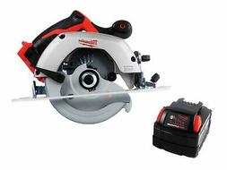 "Milwaukee 18V 2630-20 6 1/2"" Circular Saw with 48-11-1828 On"