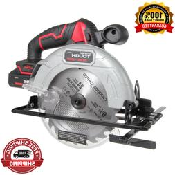Hyper Tough 20V 6.5 Inch Circular Saw, Cordless with Battery