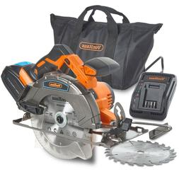 VonHaus 20V Cordless Circular Saw Kit with Battery Charger K