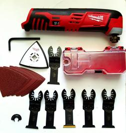 MILWAUKEE 2426-20 M12 12V MULTI-TOOL W/6 BLADE,SANDING SHEET