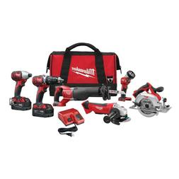 Milwaukee 2696-26 M18 18V 6-Tool Cordless Combo Kit Circular