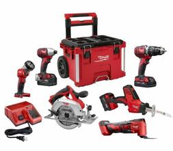 Milwaukee 2697-26PO M18 6-Piece Combo Kit with Packout Rolli