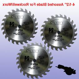 "3X 4-1/2"" Carbide Circular Saw Blade for ROCKWELL Compact RK"