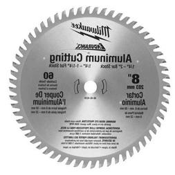 MILWAUKEE 48404530 Circular Saw Blade, Carbide, 8 In Dia, 60