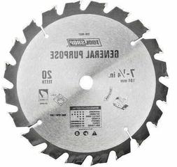 "7-1/4"" 20 Tooth CARBIDE General Purpose Circular Saw Blade H"