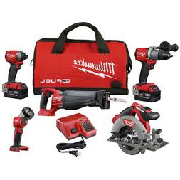 Milwaukee 2997-25 M18 FUEL 5-Tool Combo Kit with FREE IMPACT