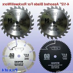 "Pack of 4 Assorted Metal/wood 4-1/2"" 4.5 inch Circular Saw B"