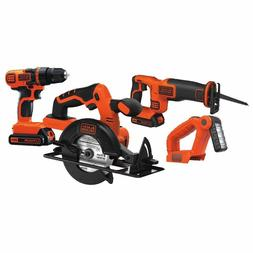 BLACK+DECKER 20-Volt MAX* 1.5 Ah Cordless Lithium-Ion 4-Tool