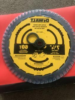 Brand New DEWALT 7-1/4-in 60-Tooth  Carbide-Tipped Steel Cir