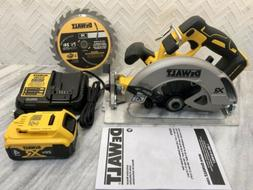 Brandnew DEWALT DCS570B 7-1/4 Circular Saw With 4.0ah Batter