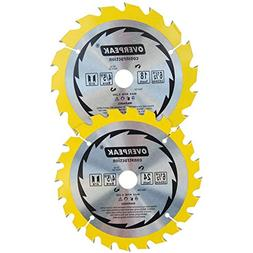 Overpeak 6-1/2-Inch Circular Saw Blade with 18 and 24 Tooth