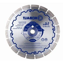 Kobalt Circular Saw Blade Wet or Dry Segmented Diamond-Tippe