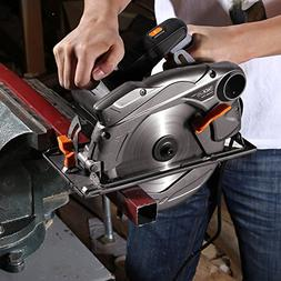 """Tacklife 7-1/4"""" Circular Saw with Laser Guide, Extra 40T Bla"""