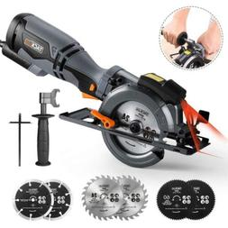 TACKLIFE Circular Saw with Metal Handle, 6 Blades, Laser Gui