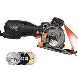 Circular Saw with Laser Guide, TACKLIFE 5.8A 705W Equivalent