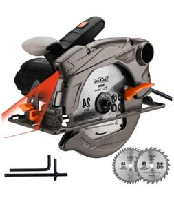 TACKLIFE Classic 1500W Circular Saw with Laser, 2 Blades 7-1