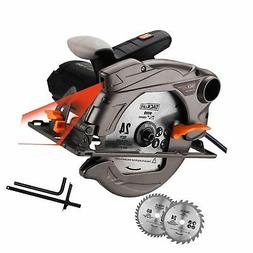 TACKLIFE Classic 1500W Circular Saw with Laser, 2 Blades, 47