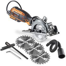 "VonHaus 4-1/2"" Compact Circular Saw 5.8 Amp with Adjustable"