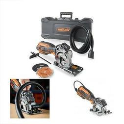 Corded Ultra-Compact Circular Saw Kit 3 Blade Kit With Carry