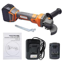 BHTOP Cordless Angle Grinder Lithium Ion-powered 20Volt Char