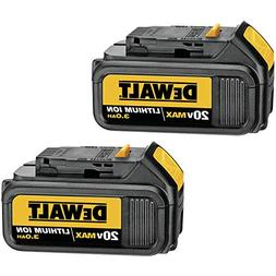 DEWALT 20V MAX Battery, Premium 3.0Ah Double Pack