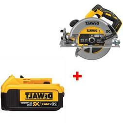 "DeWalt DCS570B 7-1/4"" 20V MAX Cordless Circular Saw with FRE"