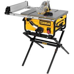 DEWALT DWE7480XA 10 in. Portable Table Saw with Table Saw St