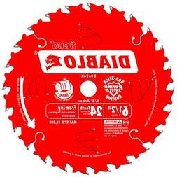 Freud D0624X Diablo 6-1/2-Inch 24-Tooth ATB Framing Saw Blad