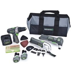 Genesis GL12DHOK2 12V Lithium-Ion Combo Kit-3/8-Inch Drill,