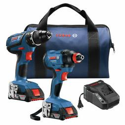 Bosch GXL18V-232B22 18V 2-Tool Kit with 1/2 In. Compact Toug