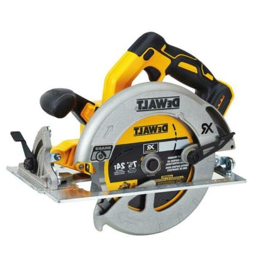 "DeWalt XR 7-1/4"" Circular Saw w/Brake DCS570B"