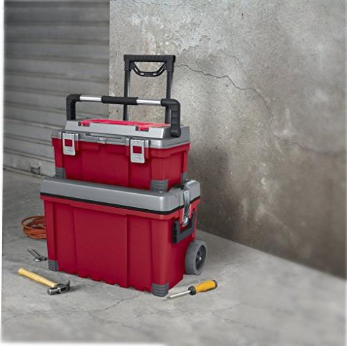 Keter 25 Portable & Utility Cart, Red /