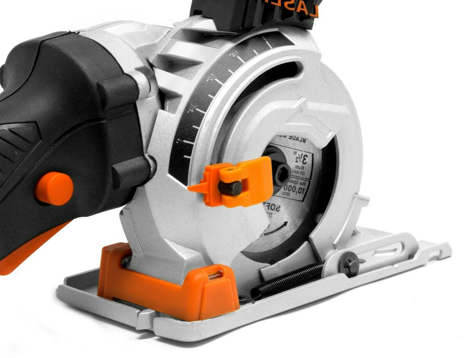 WEN 3620 Plunge Compact Saw w/ Case, and Blades