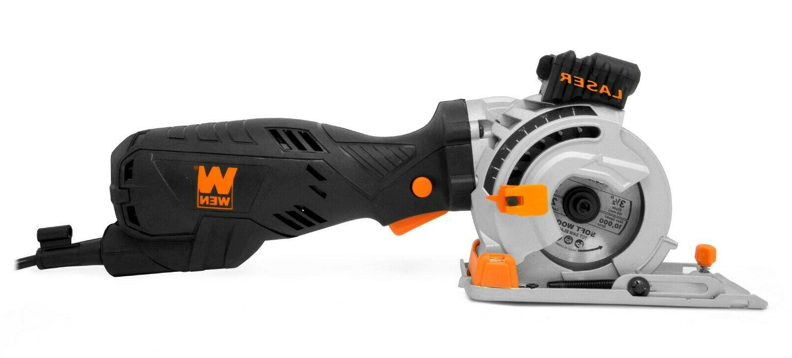 WEN 3620 Plunge Cut Compact Circular Saw and