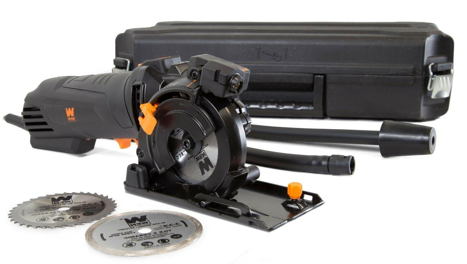 WEN 36704 Compact w/ Laser, Carrying Case, and 3 Blades