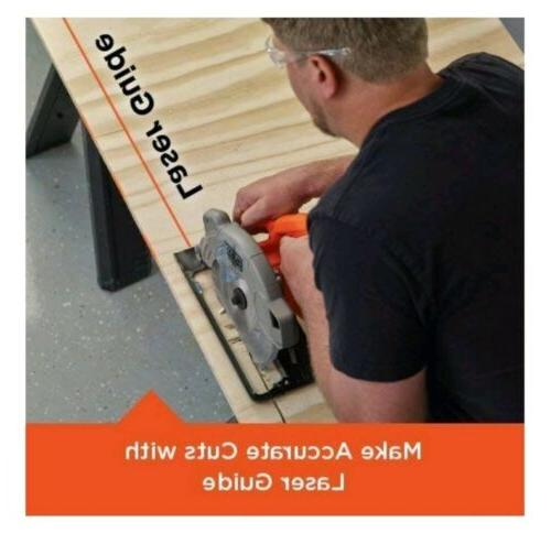 Black+Decker Circular Saw Corded Laser Guide Hand Tool Blade Weight.