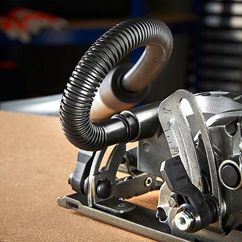 """VonHaus 4-1/2"""" Saw Amp with 45°, Dust Vacuum Hose and 4x for Wood"""