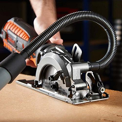 VonHaus Saw Amp with Adjustable Function 0°- 45°, Dust Port, Vacuum Hose 4x for Cutting