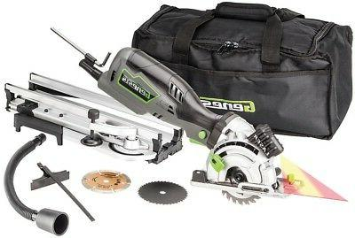 compact circular saw kit laser guide dust