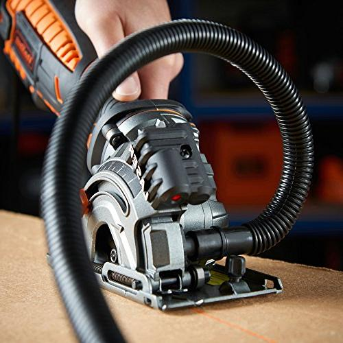 VonHaus Compact Circular Kit Laser Cord, Extraction Case and Saw Blades for Tile Cutting