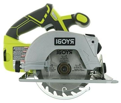 Cordless Circular Saw with Laser Guide and Carbide-Tipped Bl