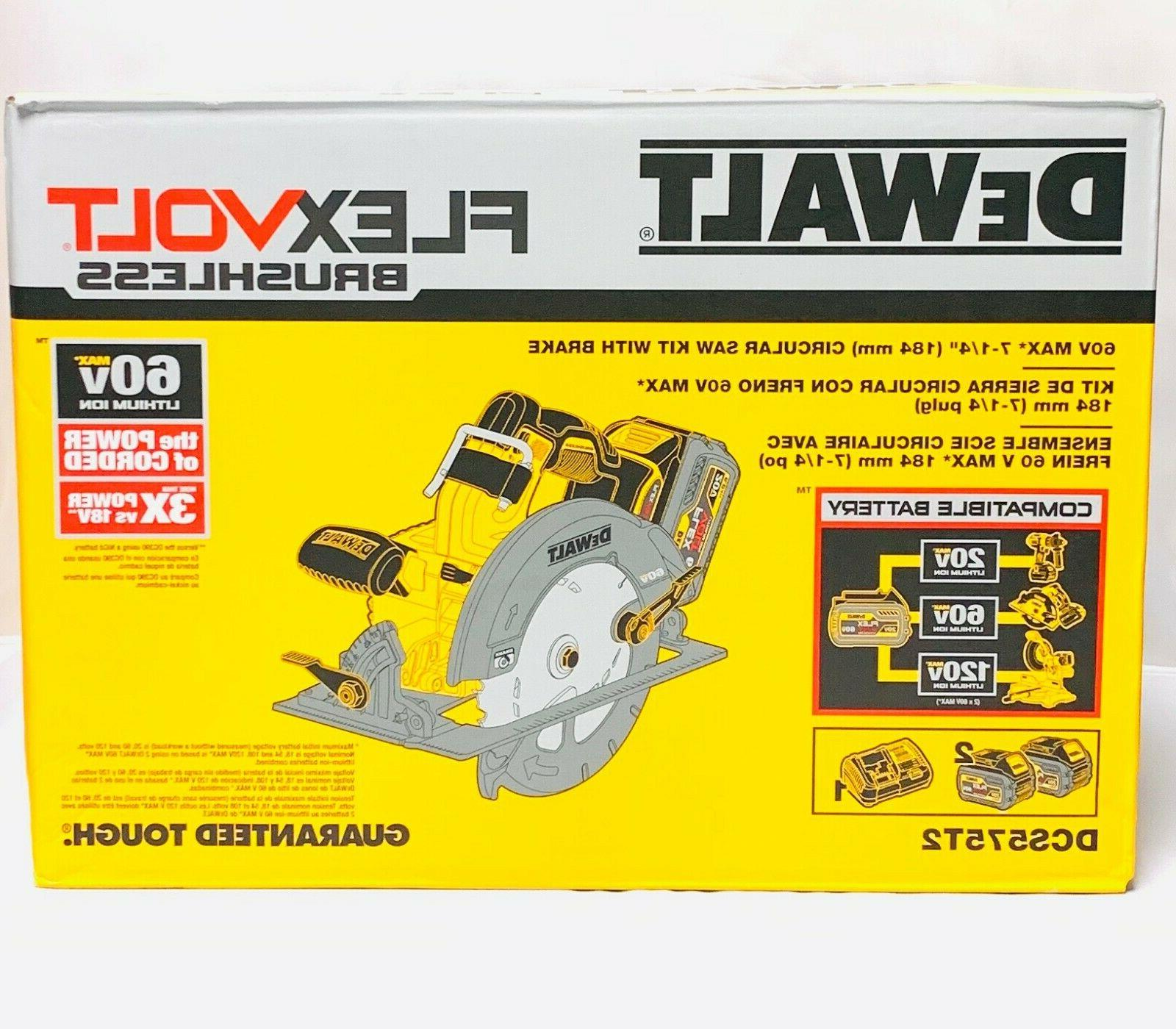 dcs575t2 circular saw flex volt