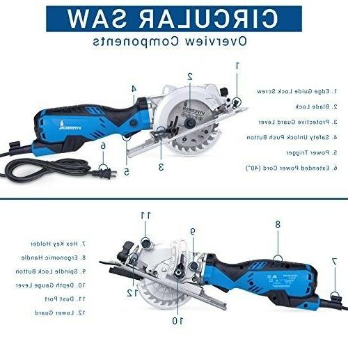 Electric Compact Saw Corded Small Dust Port Vacuum