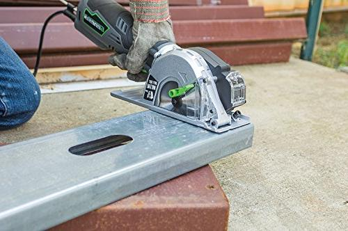 """Genesis Amp, 4-3/4"""" Control Circular Saw for Metal Cutting with and Metal Blade"""