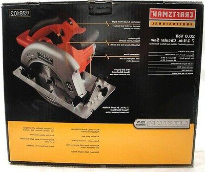 Craftsman Professional 20 Volt Lithium-Ion Circular Saw 9