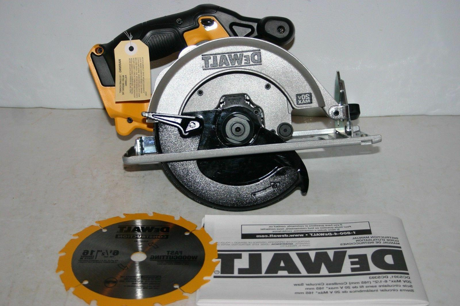 "New Dewalt Max Cordless 6 1/2"" Saw Model #"
