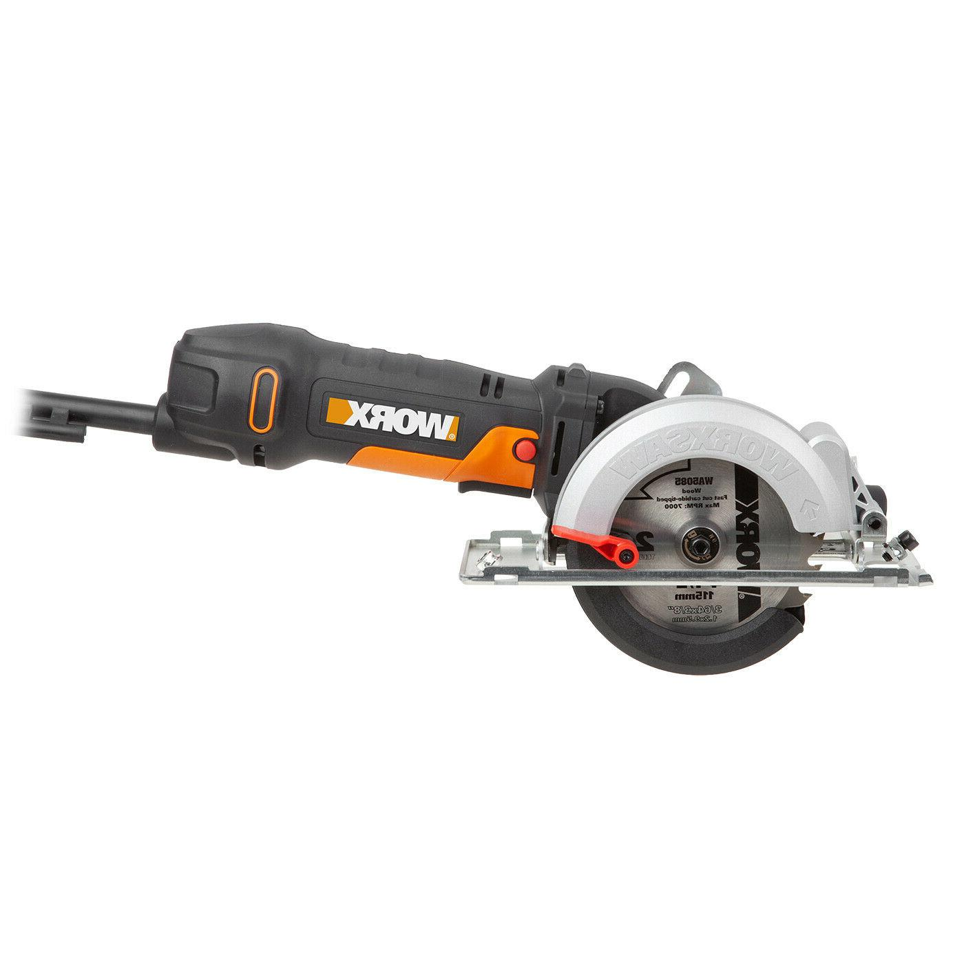 "WORX WX439L WORXSAW 4-1/2"" 4.5 AMP Corded Compact Circular S"