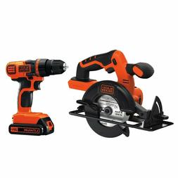 BLACK+DECKER  20V MAX Drill/Driver Circular Saw Combo Kit -