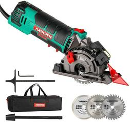 Mini Circular Saw, HYCHIKA Compact Circular Saw Power Tool w